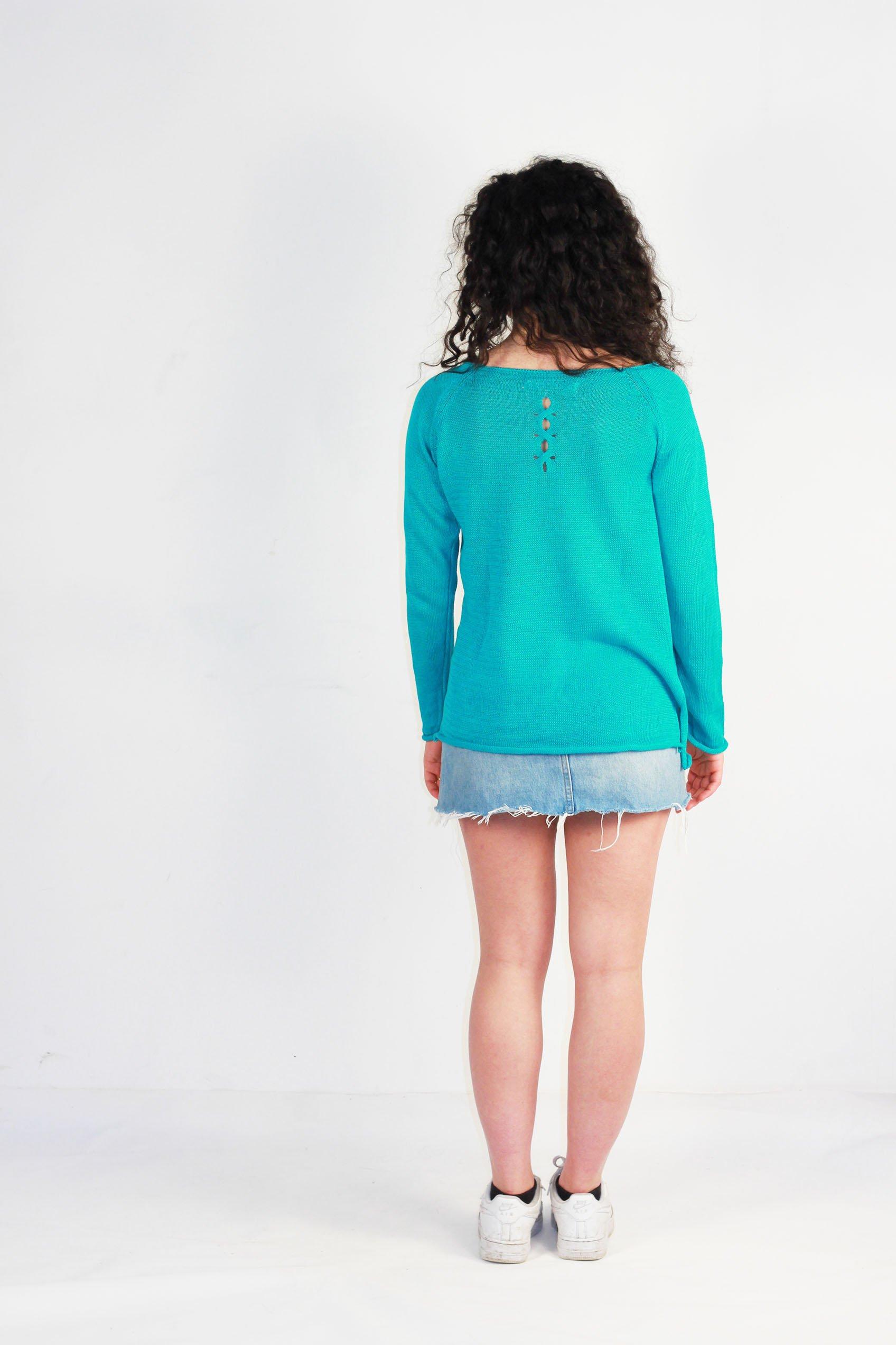 dos oseille turquoise