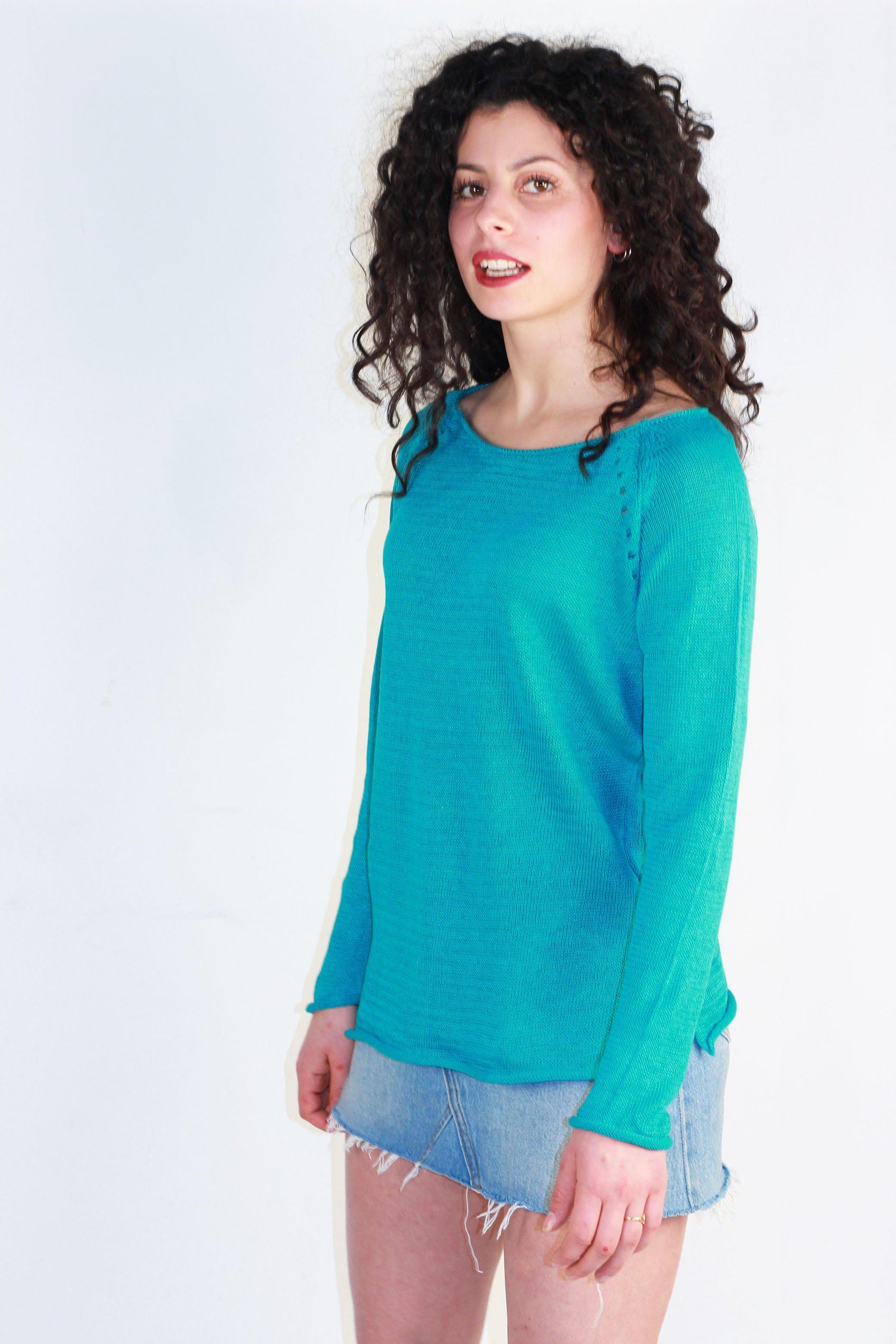 tee shirt en lin bleu
