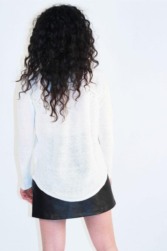 pull en lin blanc